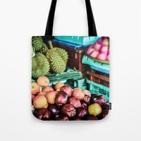 thailand Tote Bags featuring thailand by nosoulrobot