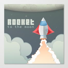 Rocket to the moon! Canvas Print