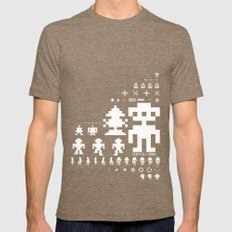 Robotron Tri-Coffee LARGE Mens Fitted Tee