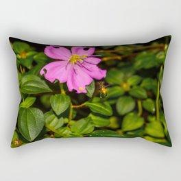 Pollination in Process Rectangular Pillow