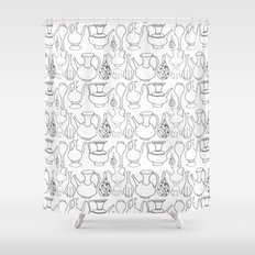 Persian Pots (b&w) Shower Curtain