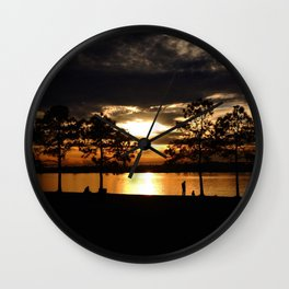 Westward the Mississippi Wall Clock
