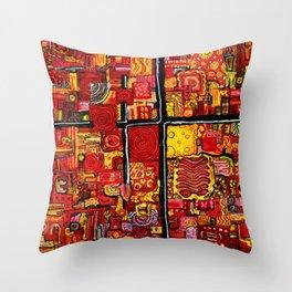 Ketchup and Mustard Throw Pillow