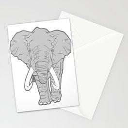 Nice Elephant Animal Art Paleo Cave Tattoo Design T-shirt Design Zoo Big Wild Animals Forest Jungle Stationery Cards