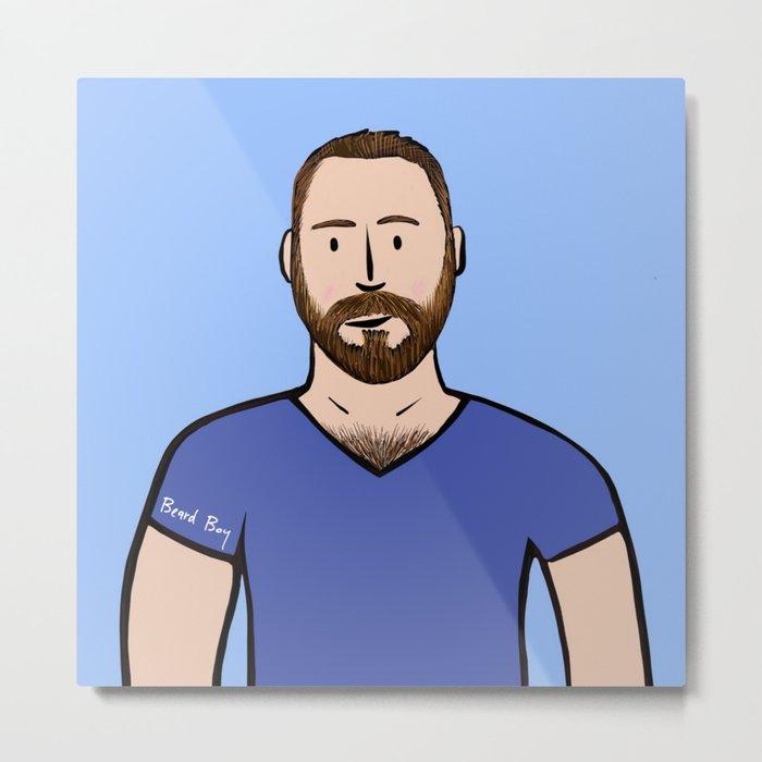 Beard Boy: Matthias Metal Print