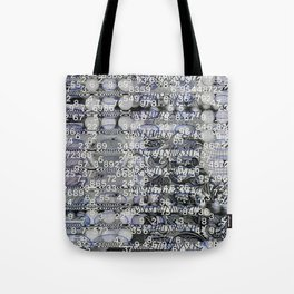Post Digital Tendencies Emerge (P/D3 Glitch Collage Studies) Tote Bag