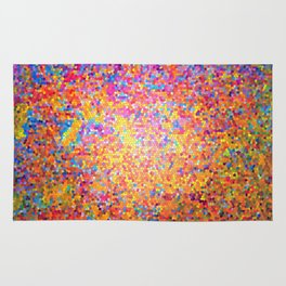Mosaic-stained glass, abstract, vibrant, colourful Rug