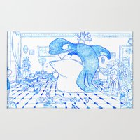 killer whale Area & Throw Rugs featuring Killer Whale by Tayfun Sezer