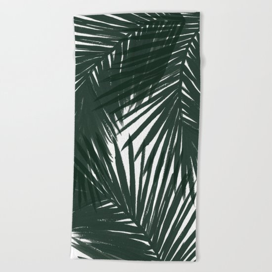 Palms Green Beach Towel