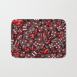 Red dice Bath Mat
