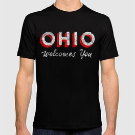 Vintage Ohio Welcome Sign T-shirt
