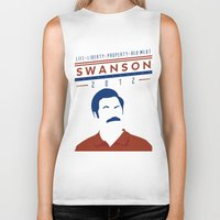 swanson Biker Tanks featuring Swanson 2012 by Clarke Hall
