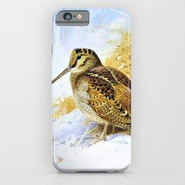 Archibald Thorburn - Winter Woodcock - Digital Remastered Edition iPhone Case