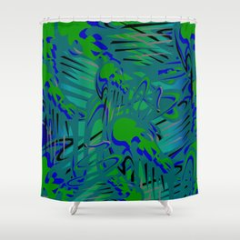 Eat Your Spinach Shower Curtain