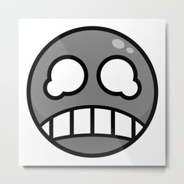 Scared Gray! Metal Print