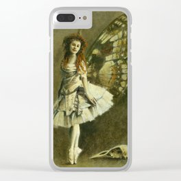 Victorian Gothic Fairy Clear iPhone Case