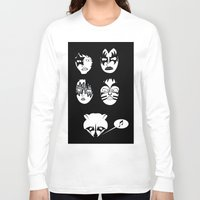 kiss Long Sleeve T-shirts featuring kiss by Tony Vazquez
