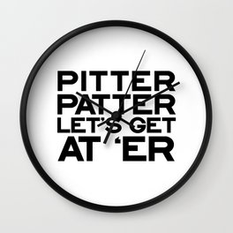 PITTER PATTER Wall Clock