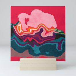 liquid shapes Mini Art Print