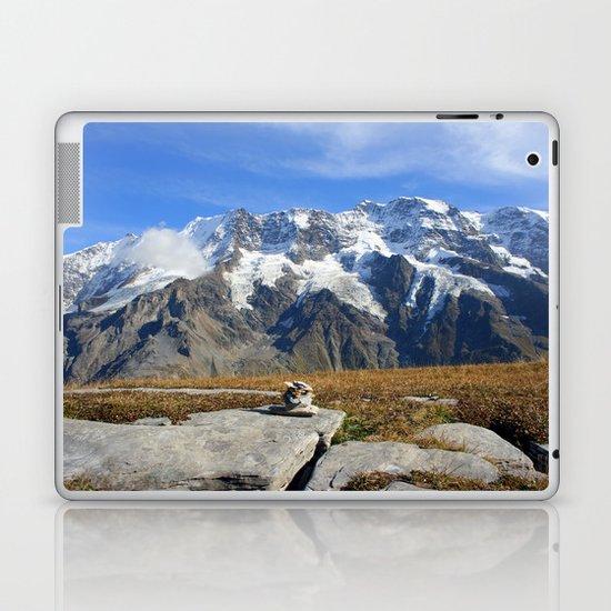 Trail Blazing the Alps Laptop & iPad Skin