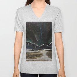 Spectacular Aurora sighting Unisex V-Neck