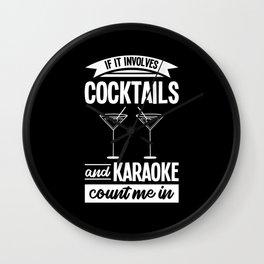 Karaoke Bar Music Party Festival Lover Singer Gift Wall Clock
