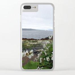Alaska Flowers Clear iPhone Case
