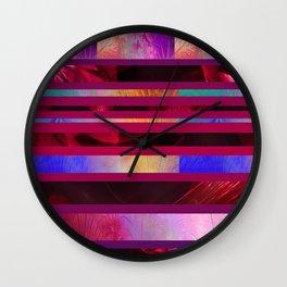 Dazzled Stripy Wall Clock