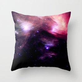 Galaxy : Pleiades Star Cluster nebUlA Purple Pink Throw Pillow
