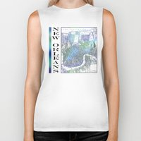 new orleans Biker Tanks featuring New Orleans by Catherine Holcombe