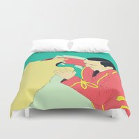 circus Duvet Covers featuring Circus by ministryofpixel
