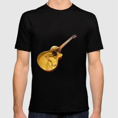 The guitar is a lady Mens Fitted Tee MEDIUM Black