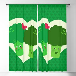 Broccoli in love Blackout Curtain