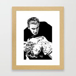 The Terrifying Lover (Mono) Framed Art Print