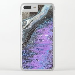 marble of space colour Clear iPhone Case