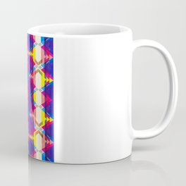 Blue Abstract Diamonate Mug