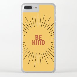 Be Kind Clear iPhone Case