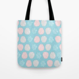 Pastel Brains Pattern Tote Bag