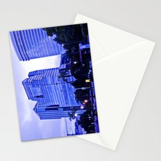 The blue building. Stationery Cards