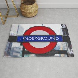 London Underground Sign Rug