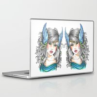 goddess Laptop & iPad Skins featuring Goddess by Little Lost Forest
