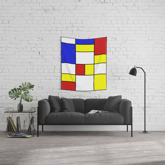 Abstract #756 Wall Tapestry