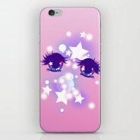 pastel goth iPhone & iPod Skins featuring Fairy Kei Pastel Goth Dreamy Shoujo Manga Eyes by KawaiiMachine