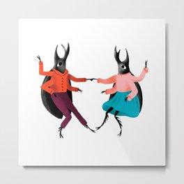 Swing Beetles Metal Print
