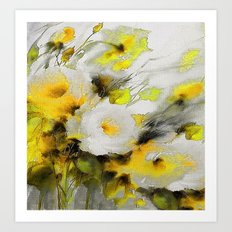 FLOWERS PAINTING Art Print