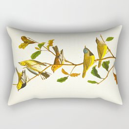 Birds & Plants Rectangular Pillow