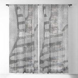 STONE GROOVE Sheer Curtain