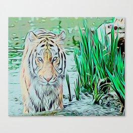 Hunting eyes Canvas Print