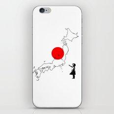 Japanese girl balloon iPhone & iPod Skin