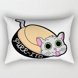 Purr-ito Kitty Burrito Rectangular Pillow